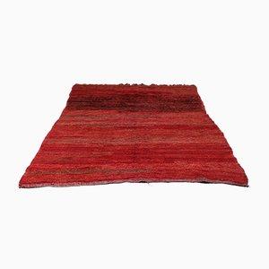 Vintage African Minimalist Wool Beni Mguild Carpet, 1970s