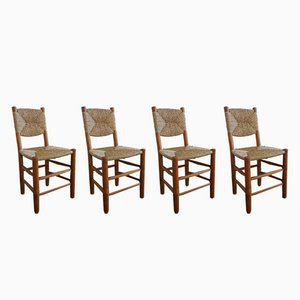 N 19 Bauche Chairs by Charlotte Perriand for Steph Simon, 1950s, Set of 4