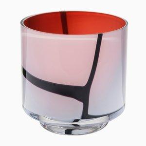 Spina Vase in Schwarz & Rot von Eric Schmitt