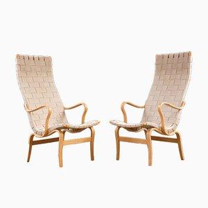 Scandinavian Modern Eva Lounge Chairs by Bruno Mathsson for Dux, 1970s, Set of 2