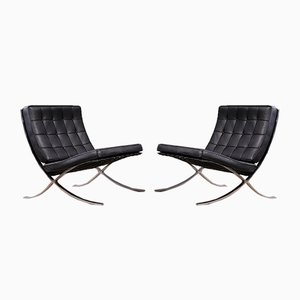 Barcelona Chairs by Ludwig Mies van der Rohe for Knoll Inc., 1970s, Set of 2
