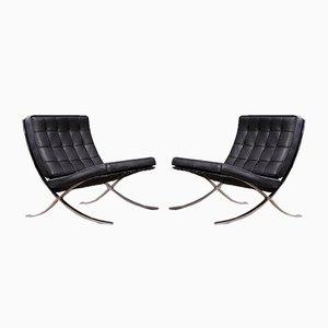 Sedie Barcelona di Ludwig Mies van der Rohe per Knoll Inc., anni '70, set di 2