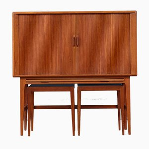 Danish Teak Bar Cabinet by Kurt Østervig for KP Møbler, 1950s