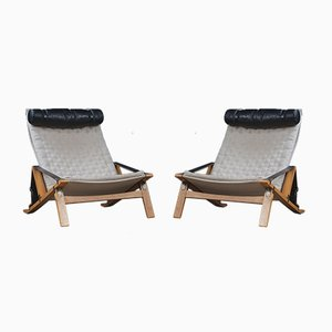 PB10 Stühle von Preben Fabricius & Jørgen Kastholm für Poul Bachmann, 1960er, 2er Set