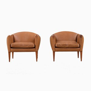 Danish Lounge Chairs by Illum Wikkelsø for Holger Christiansen, 1960s, Set of 2