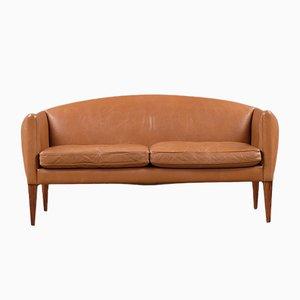 Canapé en Cuir par Illum Wikkelsø pour Holger Christiansen, Danemark, 1960s