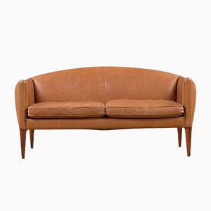 Danish Leather Sofa by Illum Wikkelsø for Holger Christiansen, 1960s