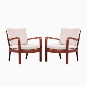 Danish Lounge Chairs by Vilhelm Lauritzen for Gustav Bertelsen, 1950s, Set of 2