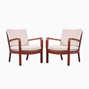 Danish Lounge Chairs by Vilhelm Lauritzen for Gustav Bertelsen, 1950s, Set of 2