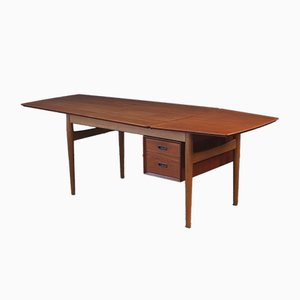 Danish Teak Drop Leaf Desk by Arne Vodder for Sibast, 1950s