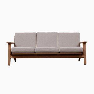 Dänisches skandinavisches modernes Sofa aus Eichenholz von Hans Wegner für Getama, 1960er