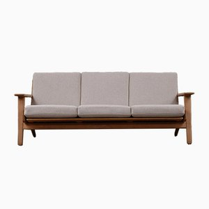 Scandinavian Modern Danish Oak Sofa by Hans Wegner for Getama, 1960s