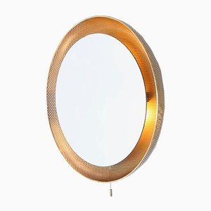 Brass and Iron Mirror by Mathieu Matégot for Artimeta, 1950s