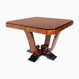 Square Mahogany Dining Table, 1930s