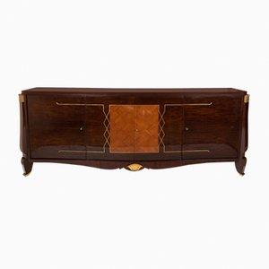 Credenza in legno con dettagli dorati, anni '40