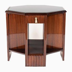 Mueble auxiliar de latón y caoba, años 30