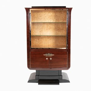 Rosewood & Bird's Eye Maple Display Cabinet, 1930s