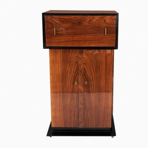 High Gloss Lacquer & Maple Bar Cabinet, 1930s