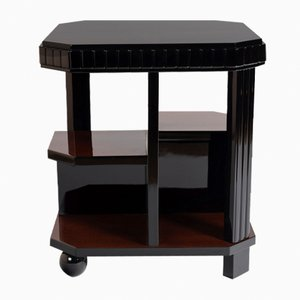 Rosewood Side Table on Casters, 1930s