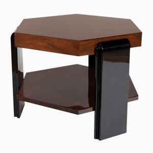 Tavolino da caffè esagonale in palissandro brasiliano, anni '30