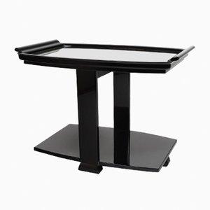 Tavolino con ripiano specchiato, anni '30
