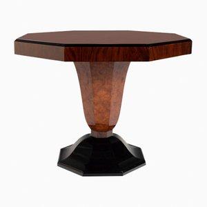 Achteckiger Tisch aus Ulmenholz, 1930er