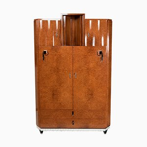 Amboyna Wardrobe with Bakelite Inlays, 1930s
