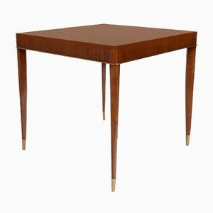 Tavolo da gioco in mogano di De Coene, anni '30