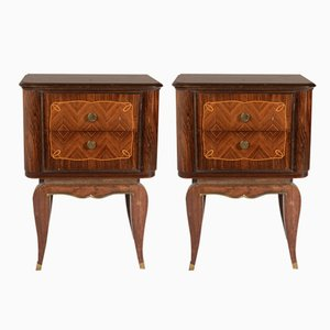 Rosewood Beside Cabinets, 1930s, Set of 2