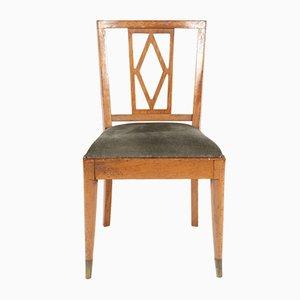 Grüne Esszimmerstühle aus Samt von De Coene, 1930er, 6er Set
