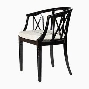 Armlehnstühle in Schwarz & Weiß von Wiener Werkstätten, 1950er, 6er Set