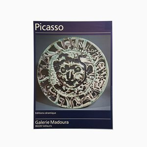 Póster de exposición francés vintage de cerámica de Pablo Picasso