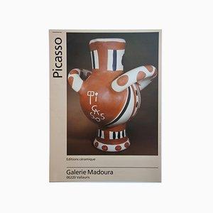 Póster francés vintage de exposición de cerámicas de Pablo Picasso