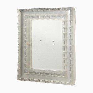 Espejo Art Déco con marco de vidrio esmerilado de René Lalique, años 30