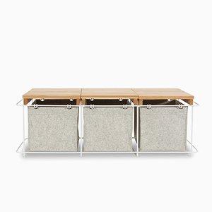 Grit White Storage Bench from bartmann berlin