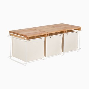 Grit White Storage Bench from bartmann berlin