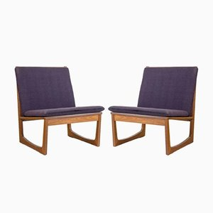 Model 522 Teak Easy Chairs by Hans Olsen for Brdr. Juul Kristensen, 1950s, Set of 2