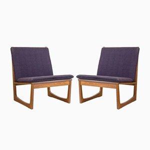 Modell 522 Lehnstühle aus Teakholz von Hans Olsen für Brdr. Juul Kristensen, 1950er, 2er Set
