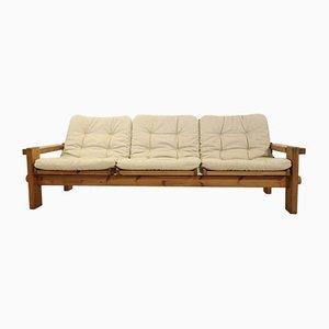 Mid-Century Sofa aus Kiefernholz von Yngve Ekström, 1960er