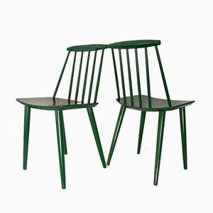 Dänische Beistellstühle aus Holz von Folke Palsson für FDB Mobler, 1960er, 2er Set