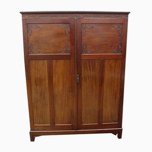 Vintage Mahogany 2-Door Wardrobe, 1920s