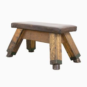 Antique Leather Gymnastics Bench