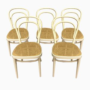 Antique Cafe Chairs, Set of 5