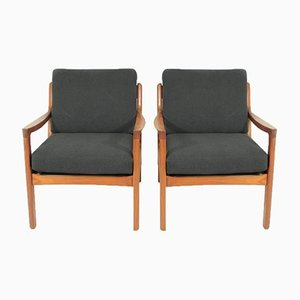 Lounge Chairs by Ole Wanscher for France & Søn, 1950s, Set of 2
