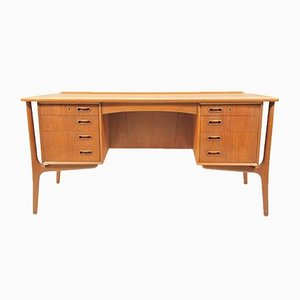Teak Executive Desk by Svend Åge Madsen for Sigurd Hansen, 1960s