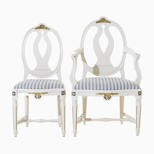 Gustavian Dining Room Chairs, 1890s, Set of 6