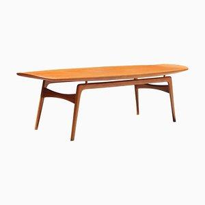 Table Basse Scandinave Vintage en Teck par Arne Hovmand Olsen pour Mogens Kold, 1960s