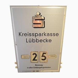 Calendrier Rotatif Kreissparkasse Mid-Century