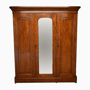 Antique Victorian Mahogany Wardrobe with Mirror