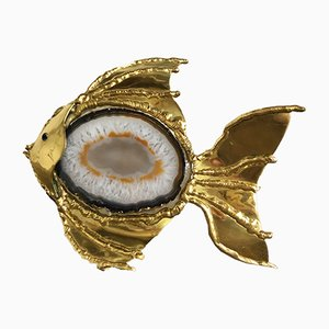 Vintage Agate Fish Lamp